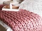 Просмотреть изображение  Плед из мериноса 100%, ручной работы 40050918 в Москве