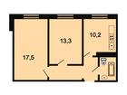 Продается 2-комн. кв-ра площадью 51,1 кв.м на 2 этаже 3 этаж