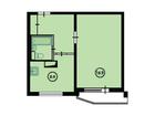 Продаются 1-ком апартаменты площадью 37.9 кв.м на 6 этаже 17