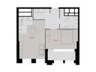Продается 1-комн. кв-ра площадью 51,6 кв.м на 39 этаже 46 эт