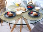 Просмотреть foto  Стильный обеденный стол из древесины дуба и стекла 56977231 в Пензе