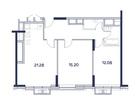 Продается 2-комн. кв-ра площадью 63,04 кв.м на 10 этаже 22 э