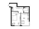 Продается 1-комн. кв-ра площадью 46,3 кв.м на 19 этаже 36 эт