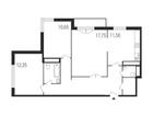 Продается 3-комн. кв-ра площадью 78,25 кв.м на 3 этаже 24 эт