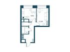Продается 1-комн. кв-ра площадью 35,08 кв.м на 19 этаже 29 э