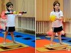 Детская балансировочная доска - тренажер вестибу
