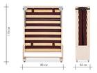 Новое фотографию Мебель для спальни Раскладушки из бука ортопедические на ламелях с матрасом 76314307 в Щелково