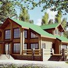 Деревянный дом, баня из сруба и бруса