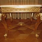 Новый журнальный столик Turri -Otello в золоте с мраморной столешницей