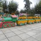 Цветник паровоз с вагонами вазонами