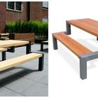 Уличные столы со скамейками