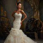 Американское свадебное платье, русалка
