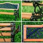 Скамейка со спинкой из дерева