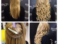 Наращивание волос в день обращения, мини-капсулы Акция до 10 июля - наращивание