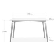 Дизайнерский обеденный стол Copine прямоугольный Легендарный обеденный стол от д