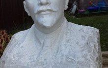 бюст В, И, Ленин из белого мрамора