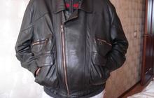 Продаю новую кожаную куртку темно-коричневого цвета