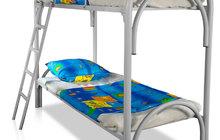 Крепкие кровати металлические эконом класса для больниц, клиник, госпиталей