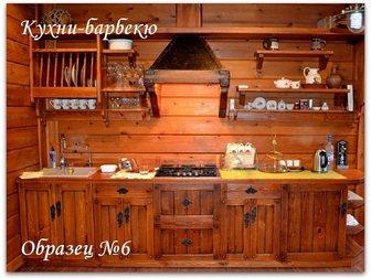 Свежее фото Кухонная мебель Кухни из массива дерева под старину (состаренная мебель) 21994914 в Москве