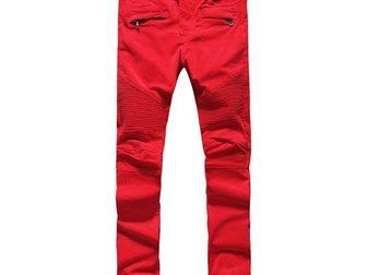 Увидеть фотографию Мужская одежда Джинсы Pierre Balmain Red 32630578 в Москве