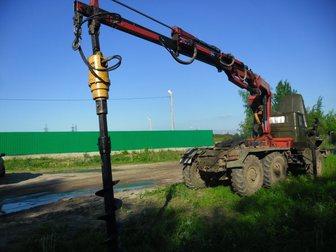 Свежее foto Буровая установка Аренда ямобура Камаз, Урал (вездеходы) до 12 м 32650402 в Москве