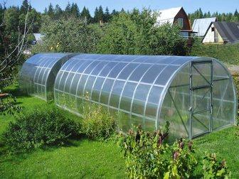 Уникальное изображение Разное Теплица арочного типа с покрытием из сотового поликарбоната, изготовлены из оцинкованного профиля, 32867380 в Москве