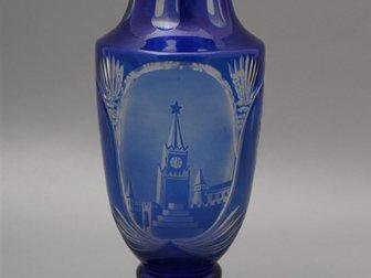 Уникальное изображение  Ваза с изображением Кремля, 1950-60 г, , стекло 32874850 в Москве