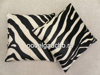 Смотреть foto Другие предметы интерьера Декоративные подушки из шкур коров, лисы и чернобурки 32883428 в Москве