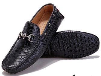 Смотреть foto Мужская обувь Мокасины Philipp Plein Reptile 32904797 в Москве