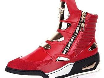 Новое foto Мужская обувь Сникерсы Versace Golden Plate High-Top 32968940 в Москве