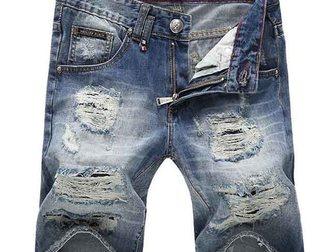 Новое фото Мужская одежда Джинсовые шорты Philipp Plein 33053003 в Москве