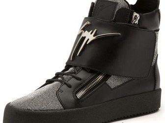Уникальное foto Мужская обувь Сникерсы Giuseppe Zanotti High-Top Diamonds 33290910 в Москве