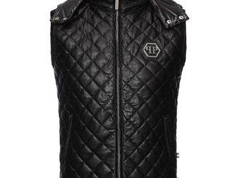 Просмотреть изображение Мужская одежда Жилетка кожаная Philipp Plein Leather 33303846 в Москве