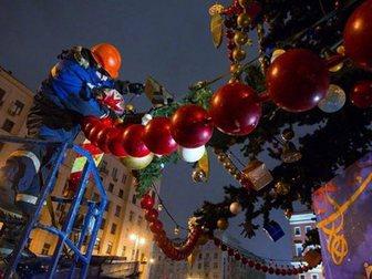 Увидеть foto Разные услуги Монтаж новогодних украшений, Москва, услуги 33658574 в Москве