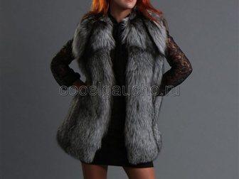 Свежее foto Женская одежда Жилетки из чернобурки (серебристо-черной лисы) 34053924 в Москве