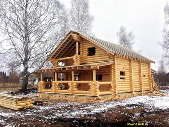 Свежее фото  Строим качественные срубы домов и бань по индивидуальным проектам, Проект в подарок! 37601203 в Москве