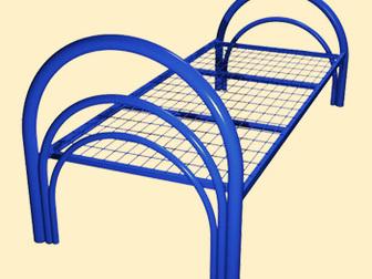 Уникальное фотографию Мебель для спальни Кровати металлические одноярусные, Кровати для студенческих общежитий 38405067 в Астрахани