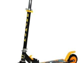 Увидеть foto Другие спортивные товары Самокат Бэтмэн двухколесный я яркими желтыми колесами 39232302 в Москве