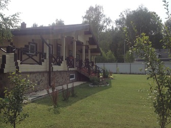 Увидеть фото  Продаётся 2-х этажный дом из бруса в стиле `Шале` по адресу: Московская область, Истринский район, пос, Северный 44231205 в Москве