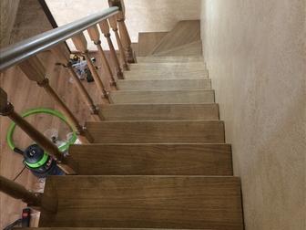 Новое foto  Лестница с разворотом на 180 градусов, с забежными ступенями от производителя 46464095 в Москве