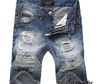 Фото в Одежда и обувь, аксессуары Мужская одежда Крутые рваные джинсовые шорты для мужчин в Москве 4500