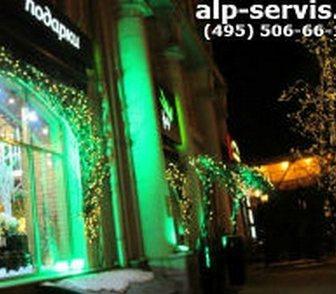 Фотография в Услуги компаний и частных лиц Разные услуги Выполним монтаж новогодних украшений на фасады в Москве 650