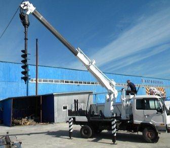 Фото в Строительство и ремонт Другие строительные услуги Закручивание винтовых свай ямобуром Nissan в Москве 14000