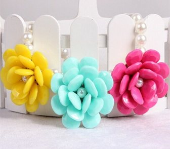 Изображение в Одежда и обувь, аксессуары Ювелирные изделия и украшения Ожерелье Крупные цветы длина 40+7см размер в Москве 350