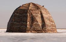 Универсальная палатка УП 2 с печкой Берег 0,8мм, нержавеющая сталь