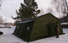Армейская палатка Берег-30М2 6, 75м*6, 0 м*3, 0, (2х слойная)