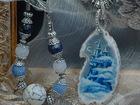 Фото в Одежда и обувь, аксессуары Ювелирные изделия и украшения Кулон-колье Белый замок с браслетом . Роспись-миниатюра в Находке 8000