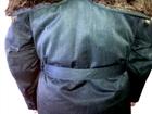 Изображение в   Овчинный крытый полушубок с капюшоном и поясом, в Нерюнгри 4500