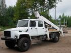 Уникальное фотографию Автогидроподъемник (вышка) Автовышка ГАЗ 33081(2-х рядная кабина),высота подъема 20м 33075219 в Новосибирске