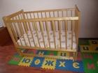 Скачать фотографию Детская мебель Кроватка детская+ матрац(кокосовая койра) 36993350 в Новосибирске